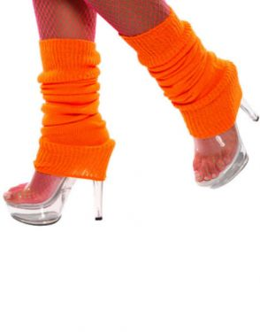 80s Leg Warmers - Orange